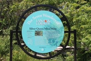 Mica Mine signage