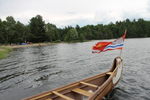 Voyageur Canoe at the Main Beach
