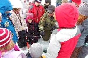 Ice fishing at SKIP in 2011.